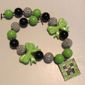 Bubble Gum Minecraft Blingy Creeper Necklace